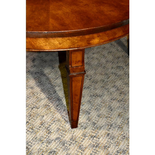 1960s Vintage Old Colony Regency Style Inlaid Lazy Susan Cocktail Table For Sale - Image 5 of 13