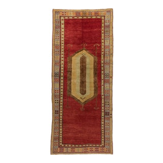 *Naqshi 4x10 Unusual Antique Vintage Turkish Tribal Village Runner Rug For Sale