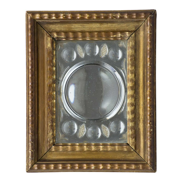 Antique Italian Cut-Glass Mirror in Gilded Frame For Sale