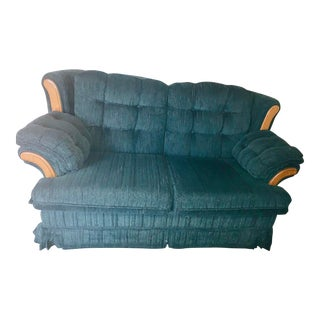 1960s Vintage Green Loveseat For Sale