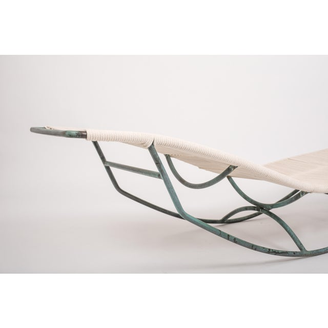Pair of Waikiki Rocking Lounge Chairs by Walter Lamb for Brown Jordan For Sale In Los Angeles - Image 6 of 8