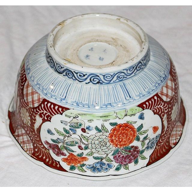 Antique Japanese Imari Bowl For Sale - Image 5 of 6