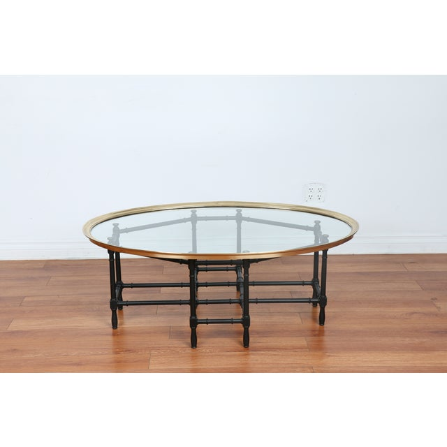 Bamboo Base Coffee Table - Image 4 of 10