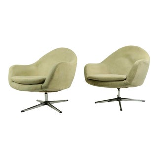 Pr. Overman Swivel Tub Chairs For Sale