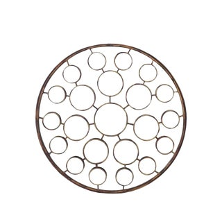 """Large 36"""" in Diameter Round Sculptural Sunburst Mirror For Sale"""