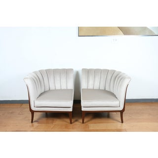 Mohair Hollywood Regency Pair of Chairs Preview