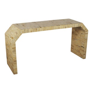 Contemporary Bone Veneered Console Signed by Gene Jonson Marciues For Sale