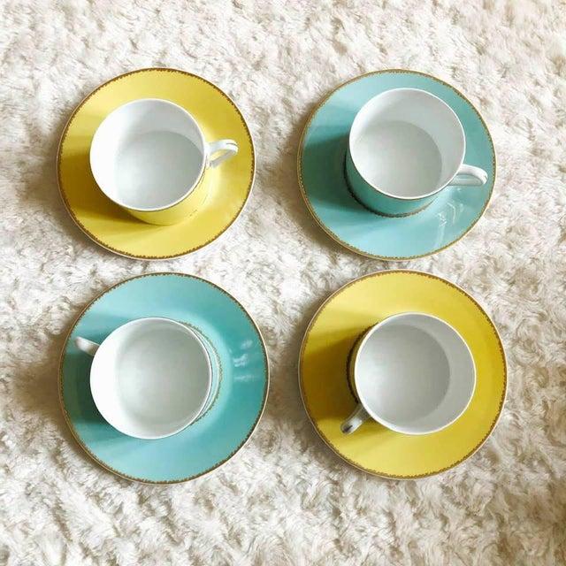"Modern Christian LaCroix Paris ""Follement"" Coffee Tea Set, France - Set of 4 For Sale - Image 3 of 13"