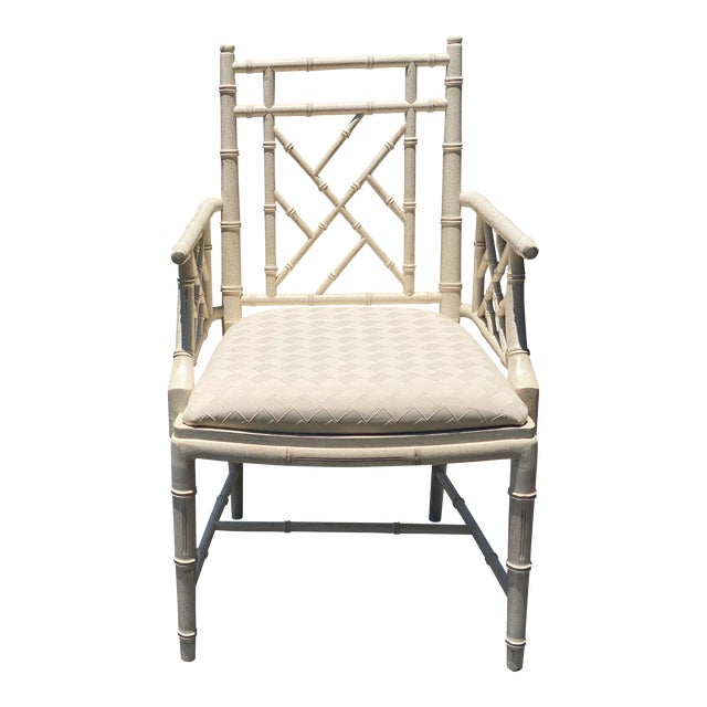 Coastal Lane Chinese Chippendale Arm Chair For Sale