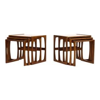 G Plan Mid-Century Danish Modern Vintage Teak Nesting Tables - Set of 6 For Sale