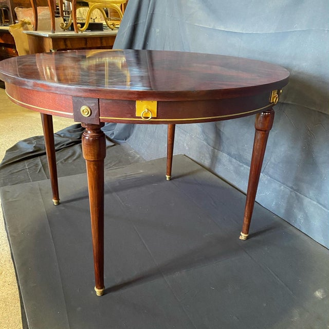 French Neoclassical Empire Style Round Side Table Dining Table For Sale In Portland, ME - Image 6 of 10