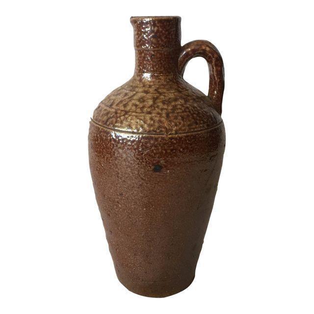 Brown Ceramic Southwestern Jug For Sale