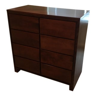 1950s Mid Century Modern Birch or Maple Wood Contant Ball 8 Drawer Dresser For Sale
