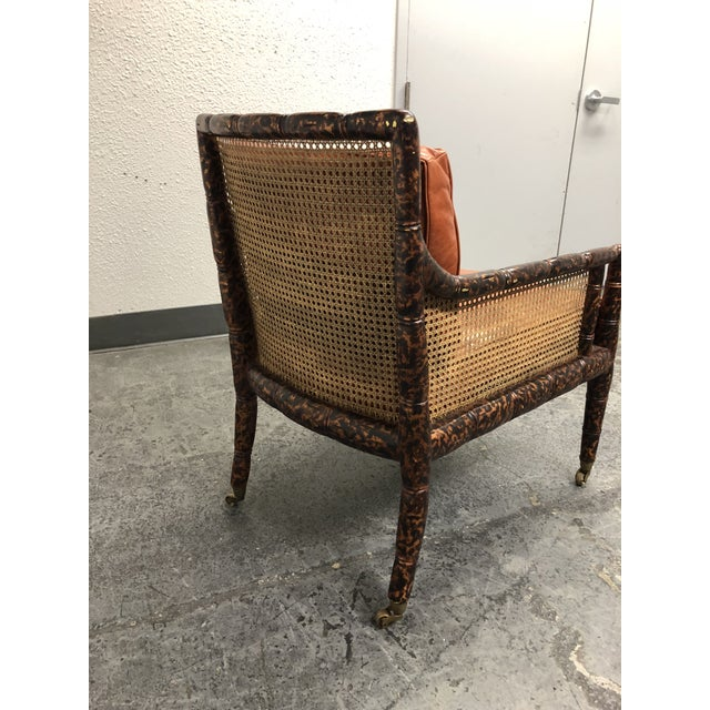 2010s Dessin Fournir Regency Chinoiserie Bamboo Caned Arm Chair For Sale - Image 5 of 10