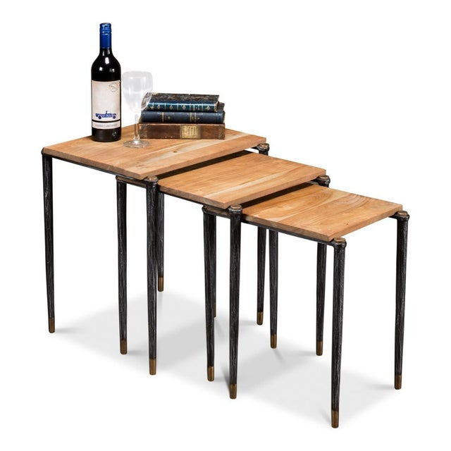 Not Yet Made - Made To Order Performance Nesting Tables, Set Of 3 For Sale - Image 5 of 11