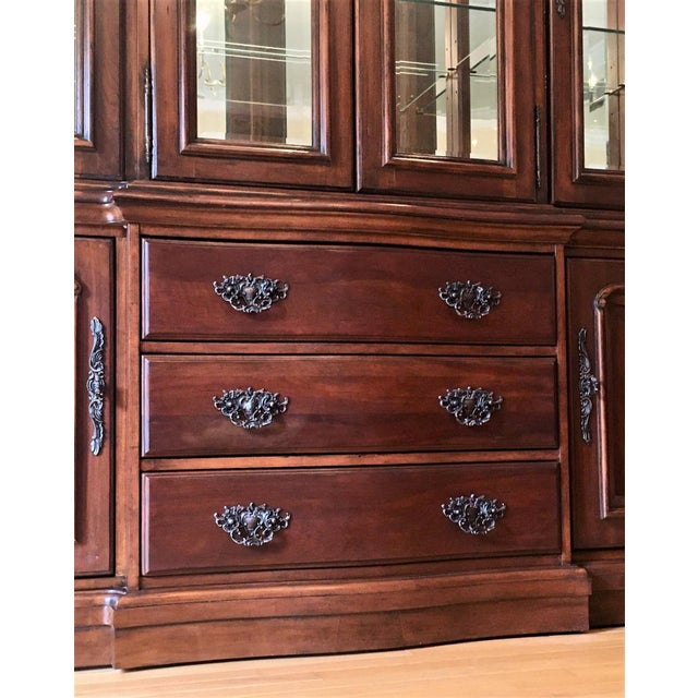 Brown Avignon by Bernhardt China Cabinet Deck & Base For Sale - Image 8 of 13