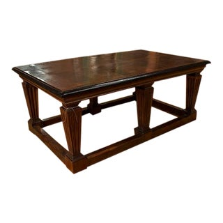 Italian Center Table With Six Turned and Fluted Legs, Tray Base For Sale
