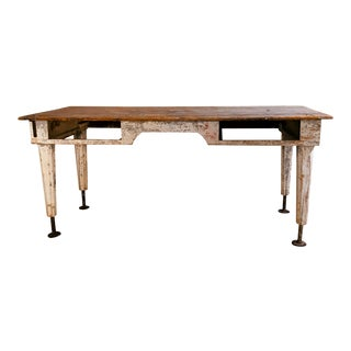 Antique Rustic Painters Work / Dining Table For Sale