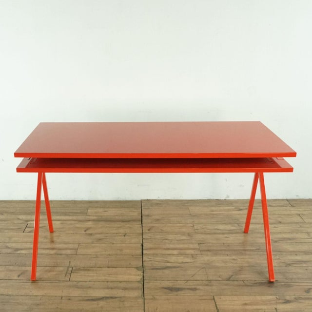 Contemporary Blu Dot Red Computer Desk For Sale - Image 10 of 10