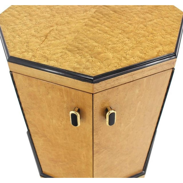 Birds Eye Maple Side Table Pedestal For Sale In New York - Image 6 of 9