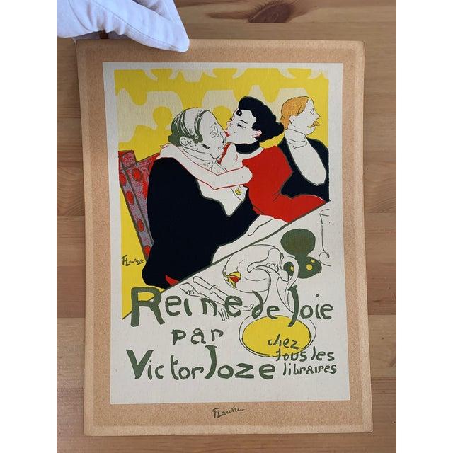 Vintage 1940's Toulouse Lautrec Original Silkscreen Print Reine De Joie 1892 For Sale In Miami - Image 6 of 7