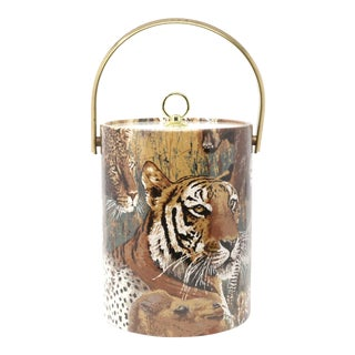 Vintage African Animals Ice Bucket For Sale