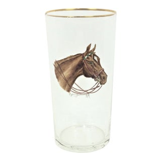 1950s English Traditional Cyril Gorainoff Horse Highball Glass For Sale