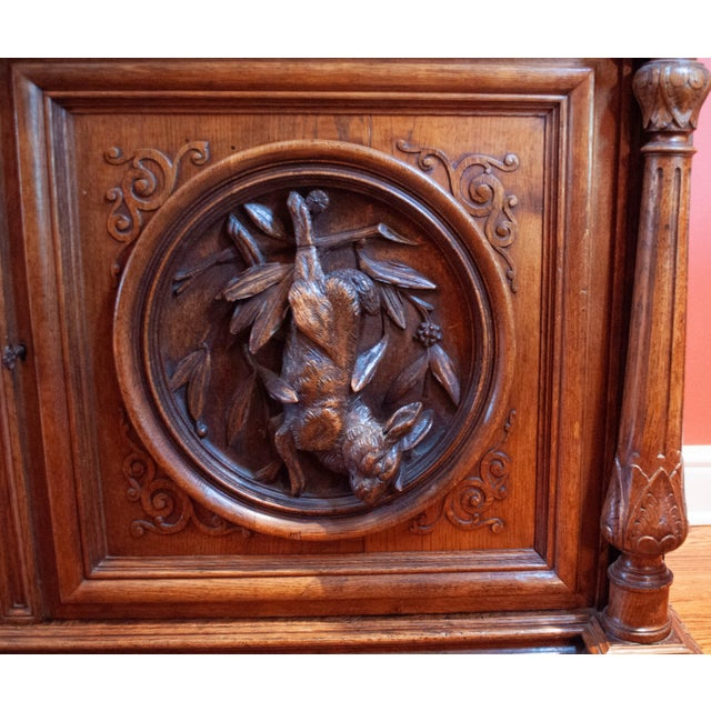 Carved French Oak Cabinet For Sale - Image 9 of 13
