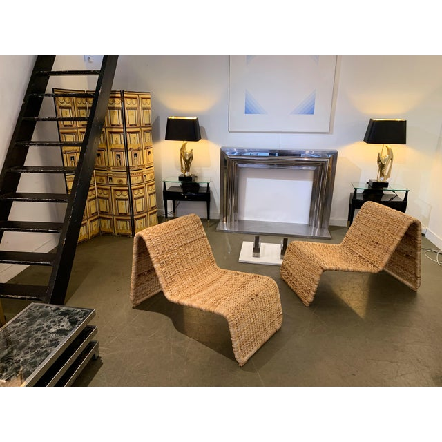 1980s Tito Agnoli P3 Rattan Lounge Chairs- a Pair For Sale - Image 11 of 12