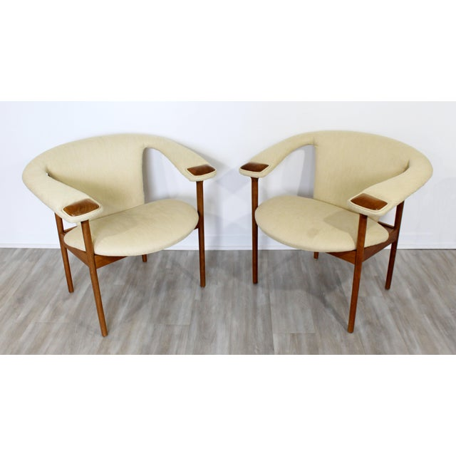 Mid-Century Modern Mid Century Modern Adrian Pearsall Wood Lounge Armchairs - a Pair For Sale - Image 3 of 9