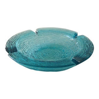 Anchor Hocking Vintage Teal Ashtray