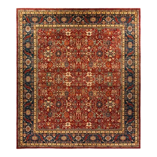 One-Of-A-Kind Oriental Serapi Hand-Knotted Area Rug, Brick, 13' 6 X 15' 7 For Sale