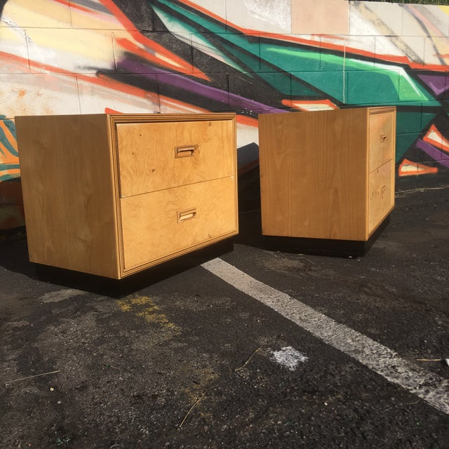Mid-Century Modern Burlwood Nightstands by Henredon-a Pair For Sale - Image 3 of 12