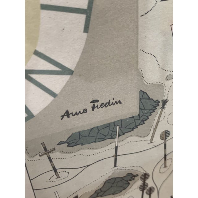1960s Vintage Arne Fredin for Swedish National Library Swedish Language Nautical Library Map For Sale In New York - Image 6 of 13