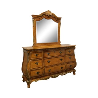 French Louis XV Style Bombe Long Dresser With Mirror For Sale