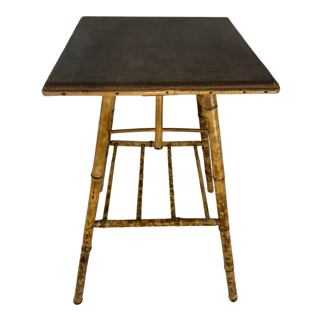 English Victorian Bamboo Side Table For Sale