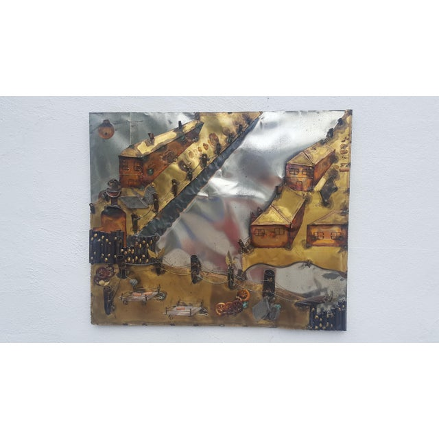 Curtis Jere Style Landscape Abstract Wall Sculpture . - Image 11 of 11