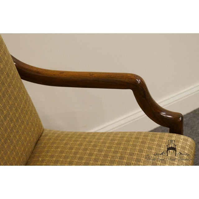 Late 20th Century Henredon Mid-Century Modern Solid Walnut Dining Arm Chair For Sale - Image 5 of 13