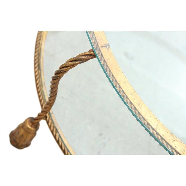 Hollywood Regency Gilt Rope Side Table - Image 5 of 6