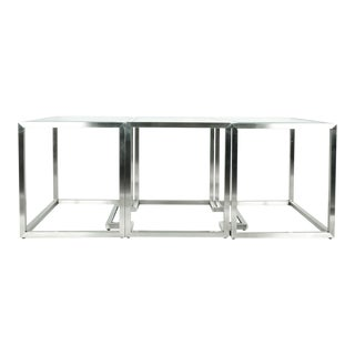Mid-Century Modern Art Deco Convertible 3 Piece Table For Sale