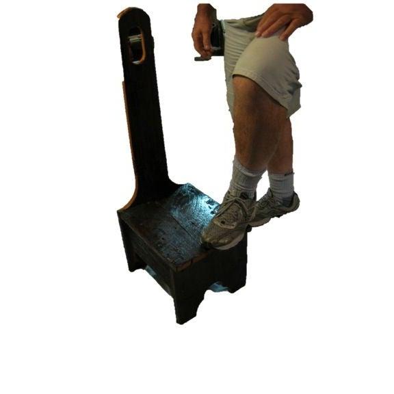 Custom Made Reclaimed Barnwood Step Stool - Image 2 of 3