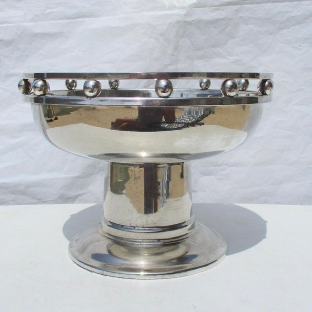 Silver Larry Laslo Silver Plate Center Bowl For Sale - Image 8 of 8