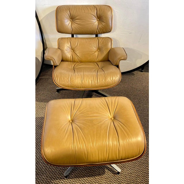 Mid-Century Modern Charles Eames, Herman Miller Midcentury Chair and Ottoman For Sale - Image 3 of 13