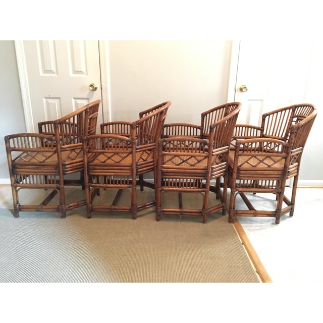 Asian 1970s Hollywood Regency Brighton Pavilion Style Bamboo Dining Set - 5 Pieces For Sale - Image 3 of 12