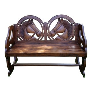 Vintage Horse Bench For Sale