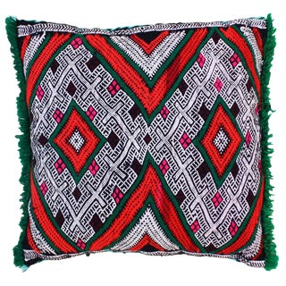 Ornate Diamonds Moroccan Pillow For Sale