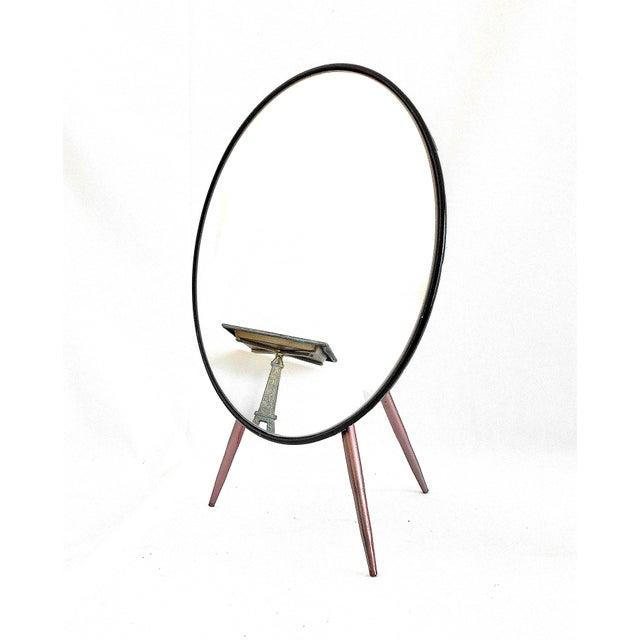 Mid-Century Modern Tripod Tabletop Mirror - Image 2 of 6
