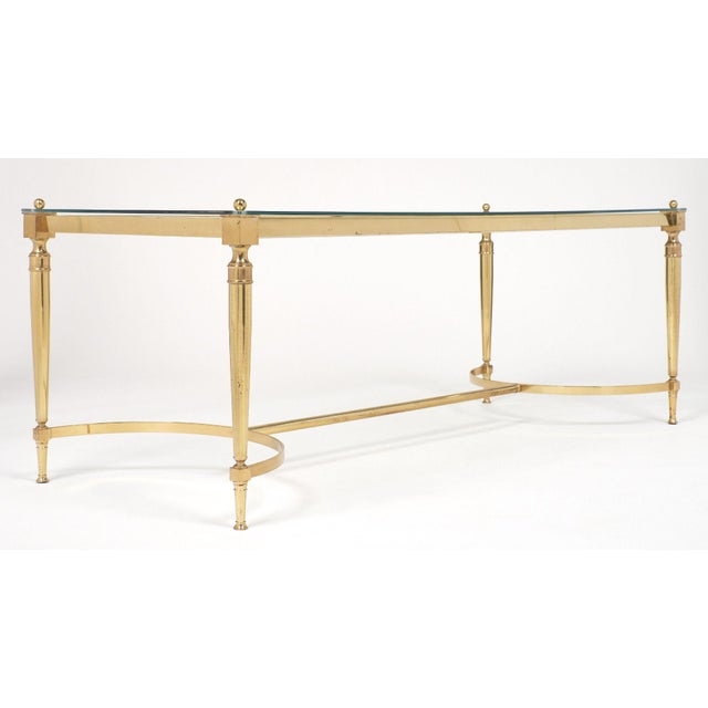 Gold Mid-Century Vintage Brass Coffee Table For Sale - Image 8 of 10