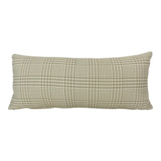 Plaid & Houndstooth Pattern Kidney Pillow For Sale