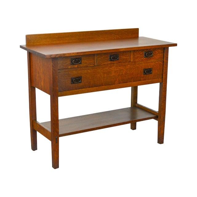 Gustav Stickley #819 Antique Mission Oak 4 Drawer Server For Sale - Image 12 of 12